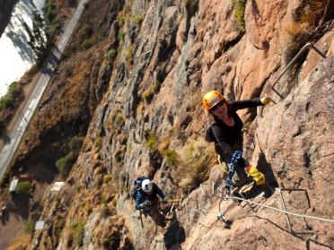 climbing to skylodge Sacred Valley Peru
